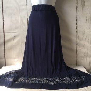 Jason Maxwell Navy Maxi Skirt